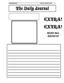 Newspaper template for kids cyberuse for Free printable newspaper template for students